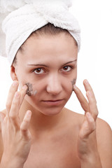 woman during spa