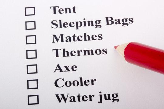 Camping Checklist