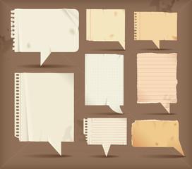 Paper speech bubbles - rectangular