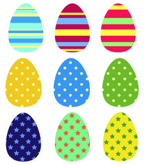 Colors Easter eggs