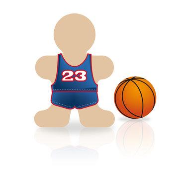 Icônes des métiers : basketteur - sportif