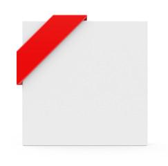 Hinweisschild mit rotem Band
