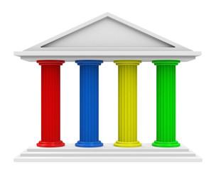 Die 4 tragenden Säulen