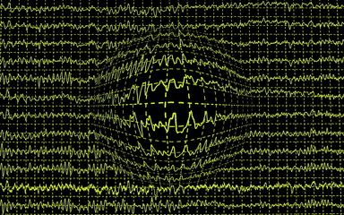 Concept of earthquake, graph wave