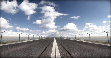 Runway at airport