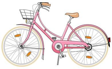 vélo de femme rose