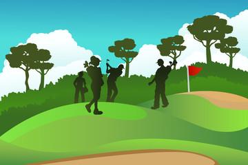 Golf players