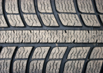 Old dirty used tyre texture
