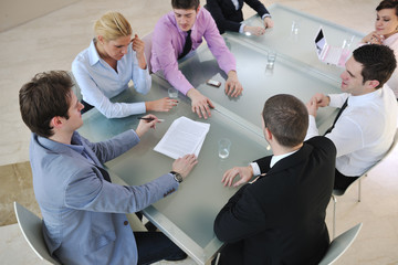 group of business people at meeting