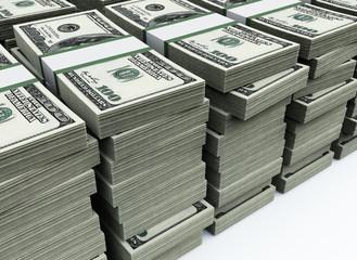 stack of 100 $US bills