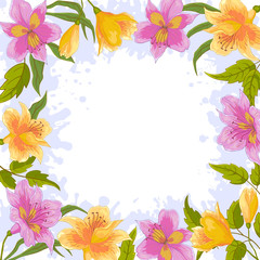 Background, frame from flowers