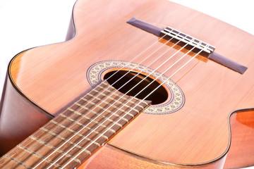 guitar fretboard and body