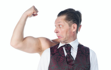 A man with biceps
