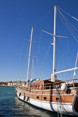 Panoramic view of an Old Ship