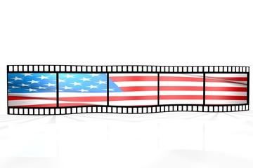 Farbfilm - fahne USA