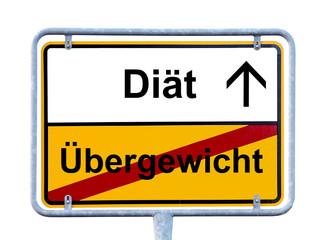 Schild Übergewicht Diät