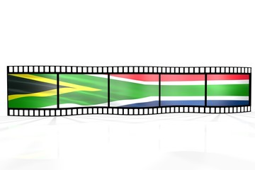 Color film - south africa flag