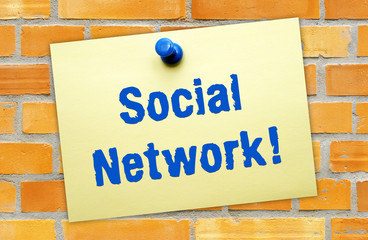 Social Network ! - Internet and Business Concept
