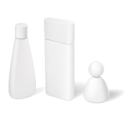 Blank cosmetic tubes bottles and containers