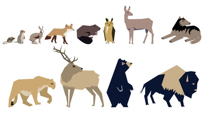 Abstract Vector Animals