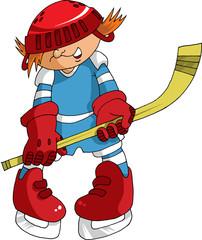 little hockey player