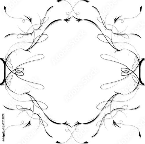 Cornice Decorazione Ornamento Ornamental Frame Vector Immagini E