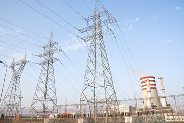 Natural gas electricity power station , a clean sourse of energy
