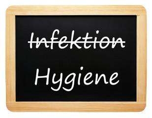 Infektion / Hygiene - Konzept Tafel - freigestellt
