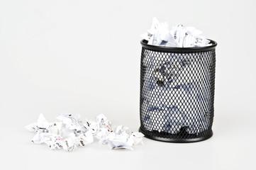 Office paper trash