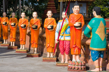The image of monks in Sihanouk Ville, Cambodia