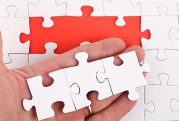 Puzzle auf Hand