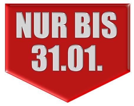 Marker rot Pfeil unten NUR BIS 31.01.