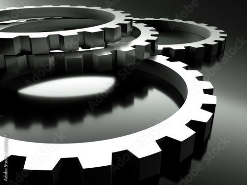 3d rendering zahnr der metall stockfotos und lizenzfreie bilder auf bild 31141665. Black Bedroom Furniture Sets. Home Design Ideas