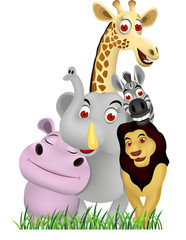 Poster Forest animals animal cartoon