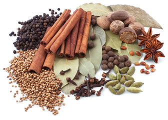 Wall Mural - Various spices