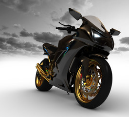 Render of concept motorcycle