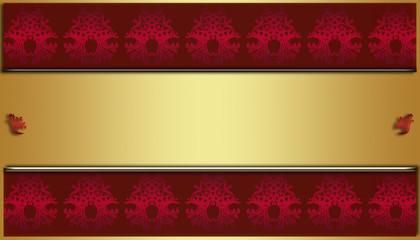 Hintergrund damast mustertapete ornament rot gold verlauf