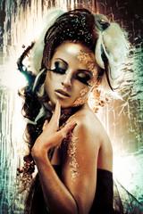 Photo sur Aluminium People Golden lady