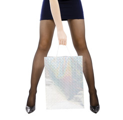 woman carrying shopping bag