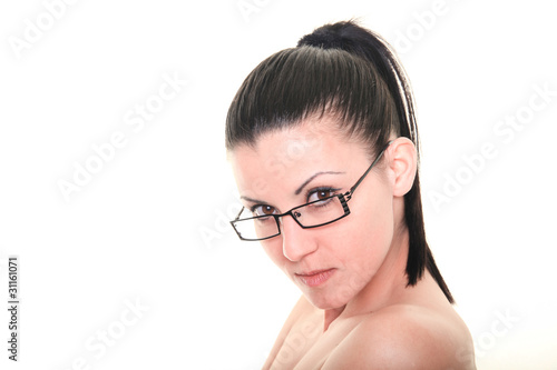 Frau Mit Brille Stock Photo And Royalty Free Images On Fotoliacom