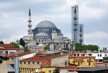 View of Suleymaniye Mosque in Istanbul, Turkey