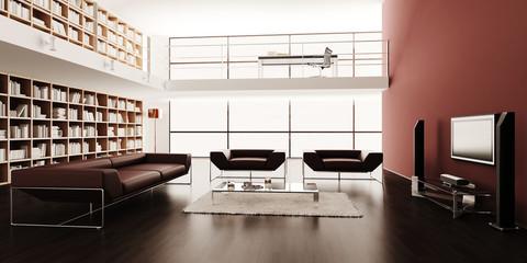 3d render of a modern interior design