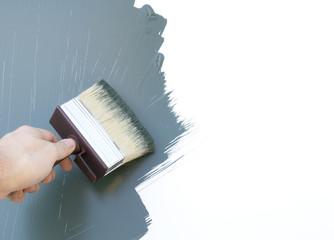 decorating with paintbrush