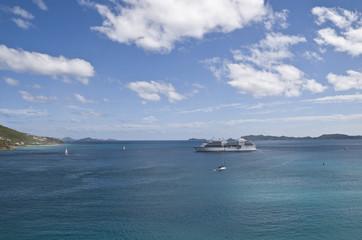 Island Tortola, sea and ships