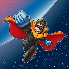 Foto op Canvas Superheroes Captain Blast Beam 4