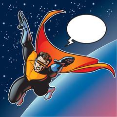 Aluminium Prints Superheroes Captain Blast Beam