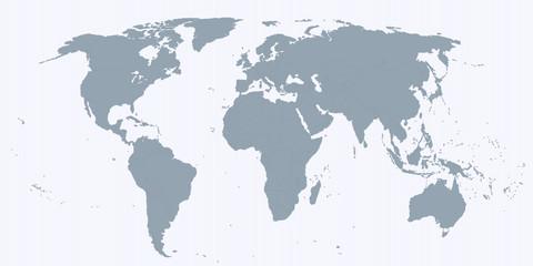 Карта мира в спокойных тонах