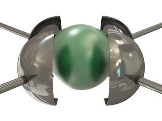 Green ball under pressure