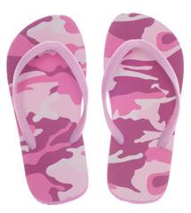 Feminine Camouflage Flip Flop Sandals