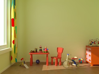 Green child room
